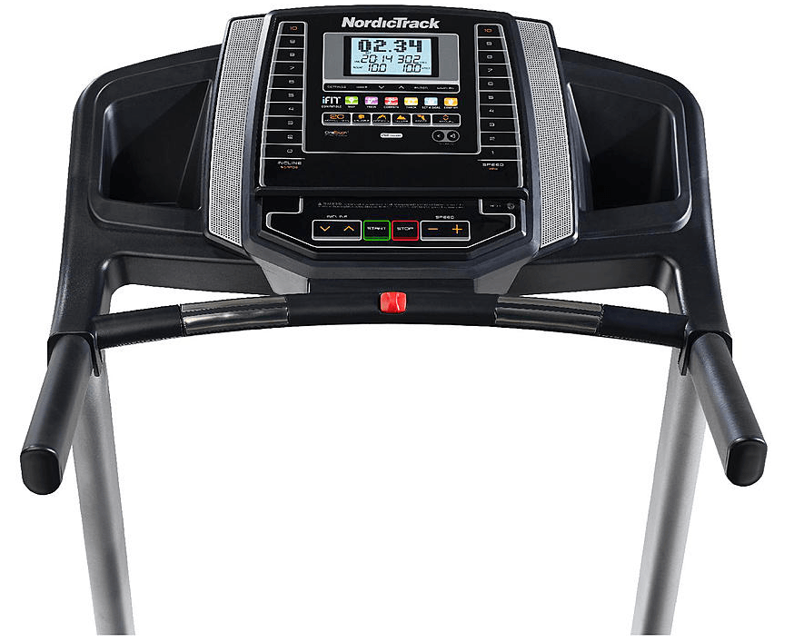 The NordicTrack T 6.5 S Treadmill has a large 5 inch LCD display